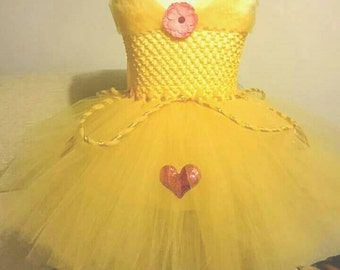 Beauty and the Beast Dress, Princess Dress, Party Dress, Flower Girl Dress, Tutu Dress, Bridesmaid dress, Dresses For Girls, Birthday Dress,