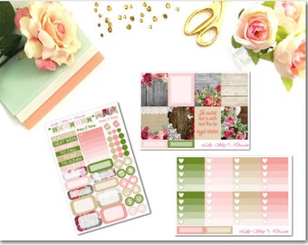 Wooden Florals 3 Page Kit