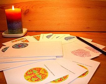 15 envelopes (C6) with different motifs
