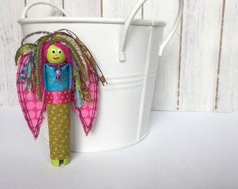 Angel Doll - Worry Doll - Guardian Angel - Handmade Art Angel - Worry Dolls Handmade - Gift for Her - Folk Art Angel - OOAK Art  Doll