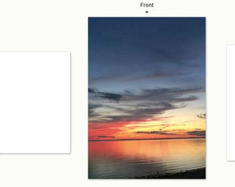 Truro Sunset 1 notecard