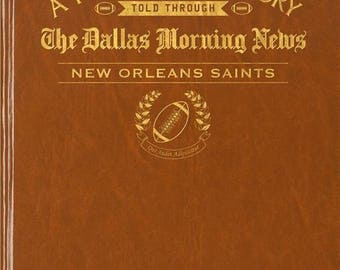 Dallas Morning News New Orleans Saints Football Book - Leatherette - Without embossing on front cover
