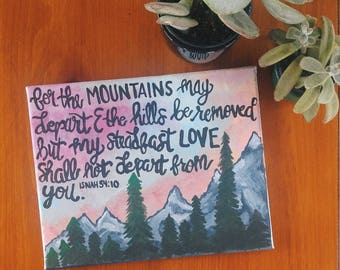 Isaiah 54:10 Canvas