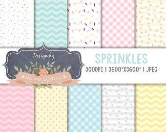 Sale Candy digital papers, sprinkles, Ice Cream Party Theme Birthday Digital Paper, Sprinkles paper, Sweets, Dessert, Summer pattern