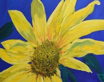 Painting, acrylic, Sunflower on a Sunny Day