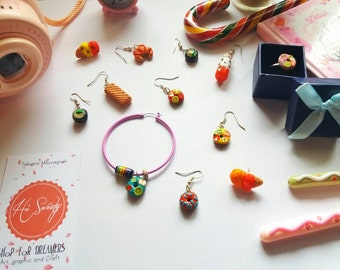 Kawaii! Earrings in polymer clay sweets and delicacies
