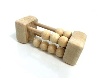 Rattle balls rattle Montessori, wood, wooden Baby Rattle