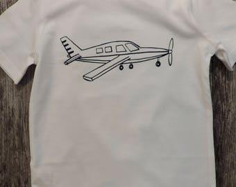 Airplane Crew Neck T-Shirt