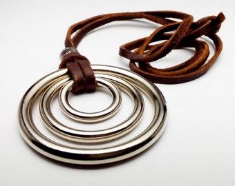 Trio Three Circle Pendant Necklace