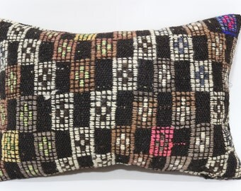 16x24 Embroidered Kilim Pillow Ethnic Pillow Striped Pillow 16x24 Anatolian Kilim Pillow Fllor Pillow Cushion Cover  SP4060-361