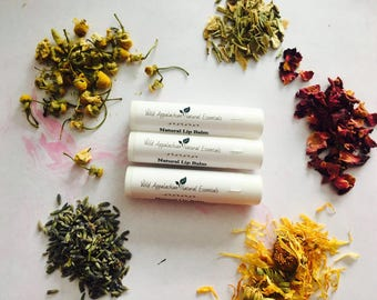 Rosemary Mint Lip Balm, 100% Natural Lip Balm, Organic Lip Balm
