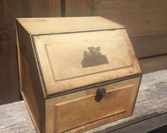 Vintage Tin Bread Box