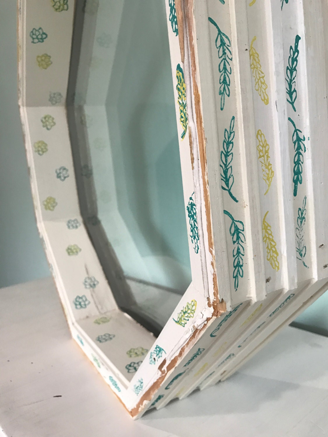 Decorative Window Pane / Frame / Vintage / Old / Home Decor / Rustic / Bohemian / Nursery / Wall Art / Wedding / Eco / Salvaged / Upcycled