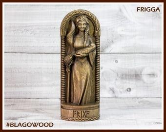 Wooden, Frigg, Scandinavian pantheon, Frigg statue, Frigg figurine, wooden Frigg, norse goddess, scandinavian goddess, frigga goddess