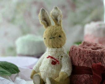 Teddy bunny Motya soft toy rabbits OOAK animals