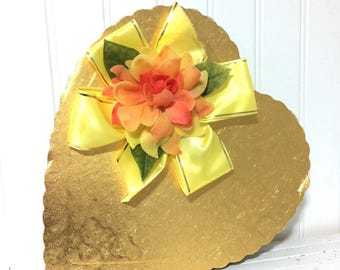 Vintage Yellow Valentine Chocolate Box