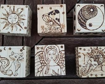 Beautiful Wood Burnt Boxes