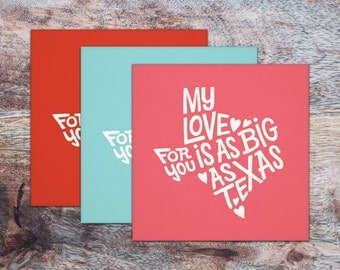 My Love For You is as Big as Texas Card