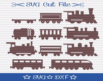 Train SVG File / SVG Cut File for Silhouette / Choo Choo SVG / Locomotive Svg / SVg for Little Boy