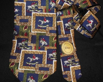 CHRISTIAN DIOR Silk Tie Made in France / PROMOTION! Free shipping. Dior