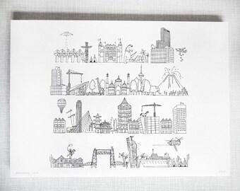 Rotje Skyline Print