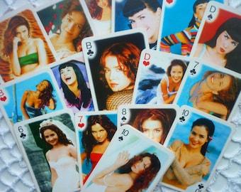 Playing cards deck vintage Natalia Oreiro Singer Actress Girl playing card deck Souvenir card deck Collectible playing cards deck Pop star