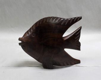 Angelfish, Ironwood sculpture (#iwfsh8.5)