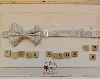 Newspaper bow tie - book lover - reading lover