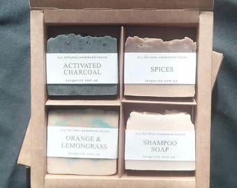 Soap gift set for her,  Vegan soap,  All Natural Soap, Handmade Soap, Cold Process Soap
