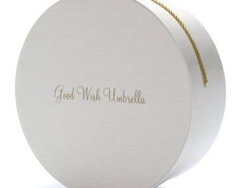 Good Wish Umbrella Signature Keepsake Box White Taffeta