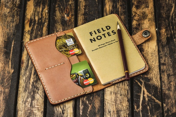 Personalized field notes cover, groomsmen gift, card holder, leather field notes notebook cover, personalized gift