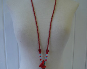 Necklace long... DUO OF CORALS.