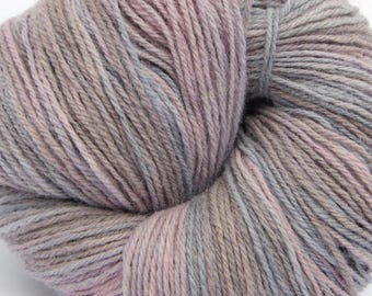 "Wool hand paint multicolor knitting yarn ""North"", DK 3-ply worsted 100g/250m"