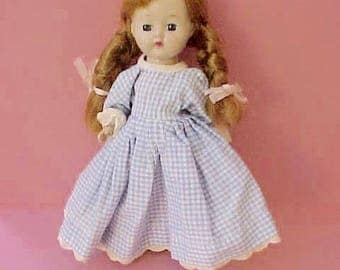 """Sweet Little 1950's 8"""" Hard Plastic Cosmopolitan """"Ginger"""" Doll in Original Clothes"""