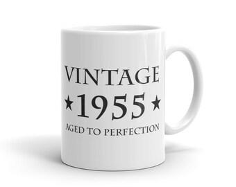 62nd Birthday Gift Vintage 1955 Mug Gift for 62nd Birthday 62 Years Old Mug Turning 62 Mug Funny Mug Gift idea #1042