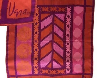 "Vintage VERA NEUMANN Retro Square Scarf — 22"""