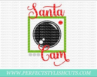 Santa Cam SVG, DXF, EPS, png Files for Cutting Machines Cameo or Cricut - Christmas Svg, Santa Claus Svg, Camera Svg, Ornament Svg, Tree Svg