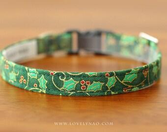Holly Berries Cat Collar – Green