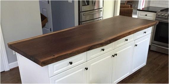 Live edge walnut slab kitchen island counter top