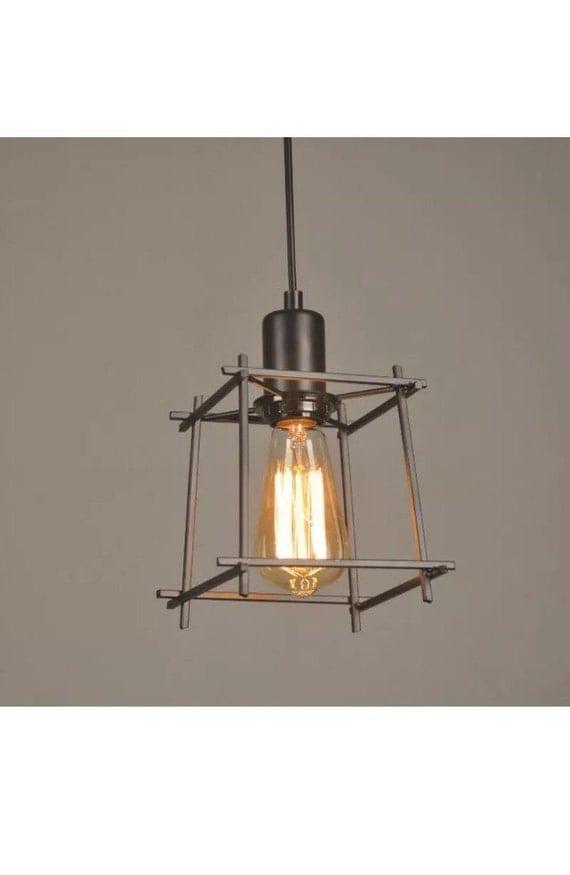 Industrial modern steel light fixture