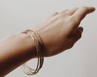 Vintage Gold Bangles - set of 5