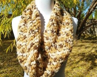 Infinity scarf, soft scarf, crochet infinity scarf, fuzzy scarf, warm scarf, fall scarf,
