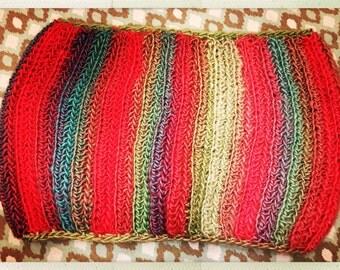 Crocheted Multi Color Cowl