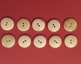 20mm Bone Button (10 Pack) - Re-Enactment, Living History
