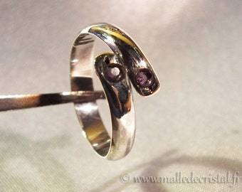 AJUSTABLE *** AMETHYST RING ****  925 Sterling