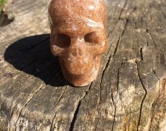 Natural Rutilated Quartz Crystal Skull