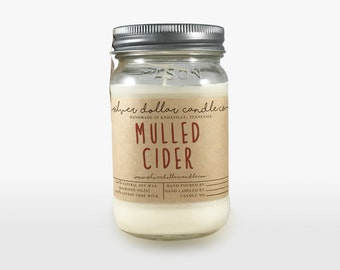 Mulled Cider 16oz Scented Candle | Fall candles, Soy Candles, Apple candles, Mason Jar Candles, Apples scent, Cider, Thanksgiving