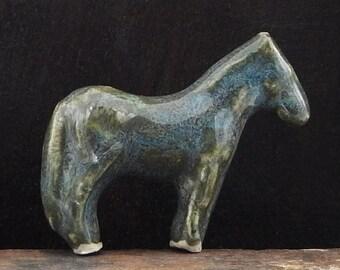 Totem Horse Ceramic Stoneware Handmade Figurine Pottery