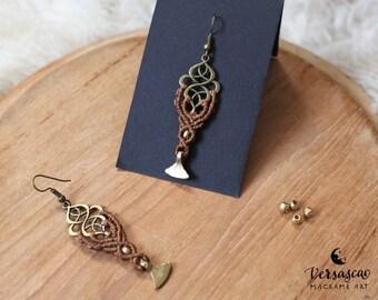 Earrings 'Oriental' Walnut