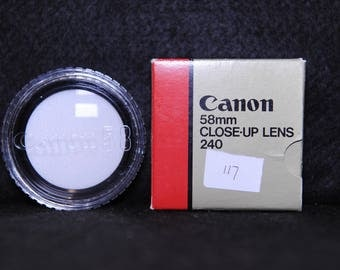 Canon FD 58mm Close -up lens 340 - Optical Accessories - 1980's #117